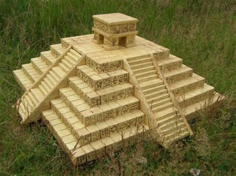 How To Make A Temple Out Of Paper - aztec temple 3d this project is made from 30mm and 10mm