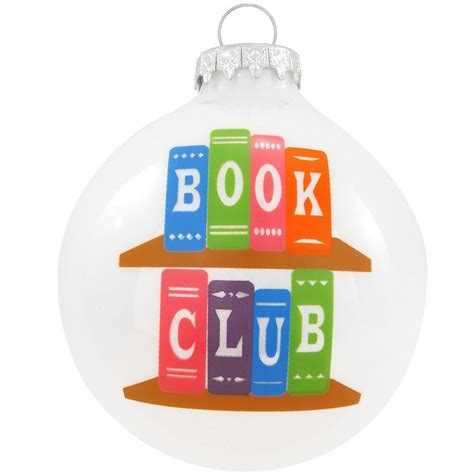 book club glass ornament hungary made european made