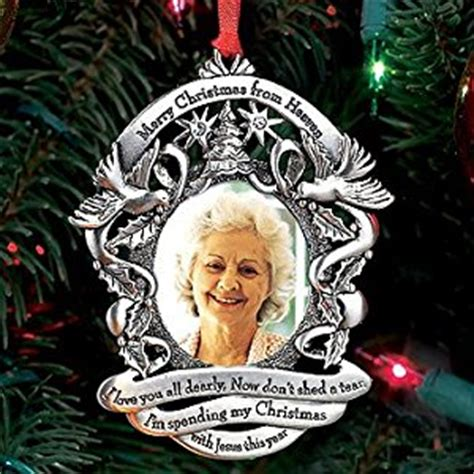 amazon com merry christmas from heaven photo ornament