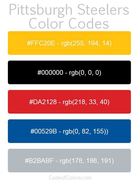 what are the steelers colors 57 best crayon bedroom images on crayons hex