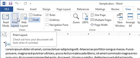 word print layout no header how to view multiple pages at once in word