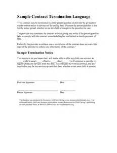 Exle Of Termination Of Lease Agreement Letter Best Photos Of Termination Notice Exle Contract