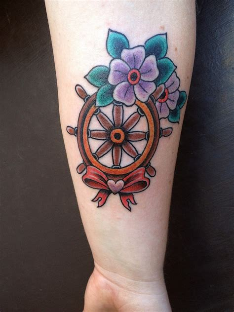ship wheel tattoo design wheel tattoos page 2
