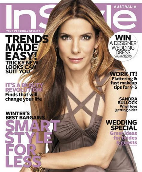 On Cover Of In Style by Bullock Instyle Magazine Australia 2009 Cover Shoot