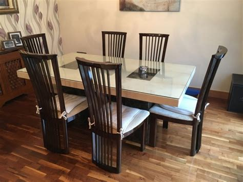 Marble Dining Table And 6 Chairs Marble Dining Table And 6 Chairs For Sale In Banduff Cork From R6supremo