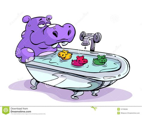 hippo in my bathtub hippo bath stock vector image of colors illustrated
