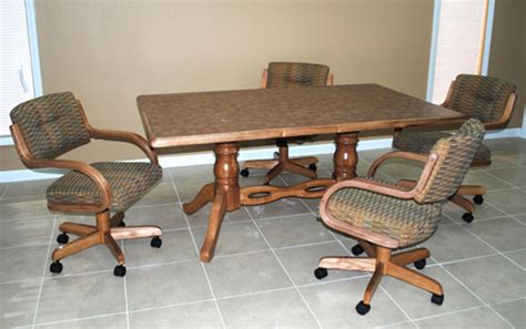 kitchen table and chairs with wheels marceladick com