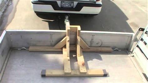 build  motorcycle wheel chock transport