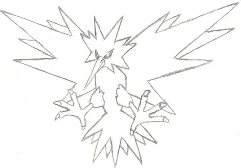 pokemon zapdos coloring pages image gallery zapdos drawings