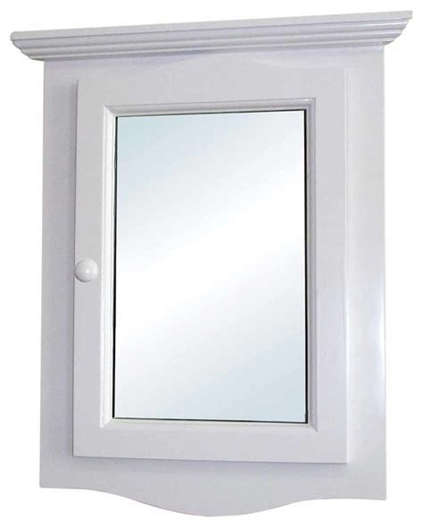 corner medicine white wood cabinet recessed mirror