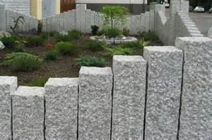 granit palisaden treppe granit palisaden bauhag