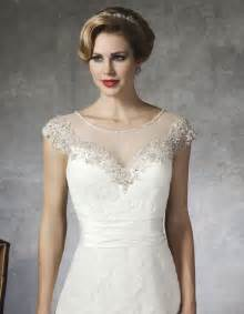 Getting modest look with beaded wedding dresses with sleeves sang