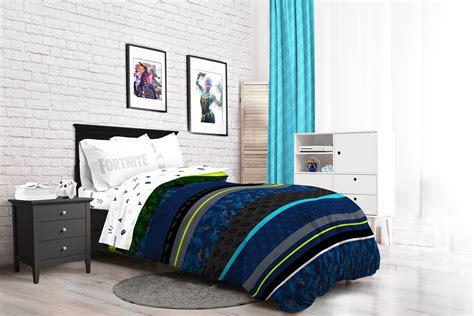 fortnite neon stripe kids bed   bag bedding set