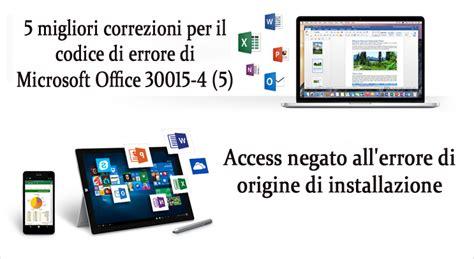 Microsoft Office Di Ibox 5 migliori correzioni per il codice di errore di microsoft