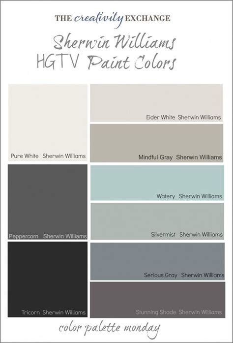 gray color combination hgtv paint colors from sherwin williams paint colors