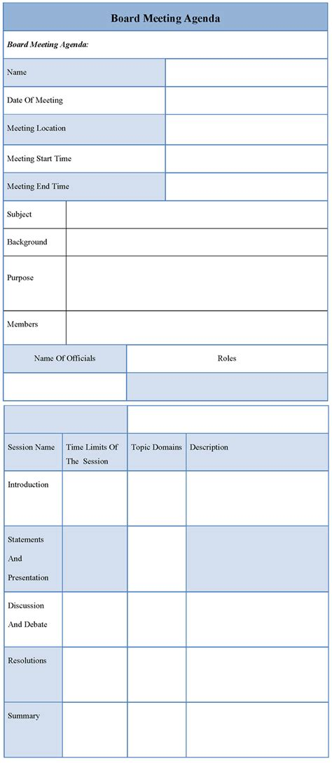 board meeting templates exle of staff meeting agenda new calendar template site