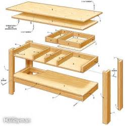 workshop bench design pdf diy work bench table plans workbench plans nz