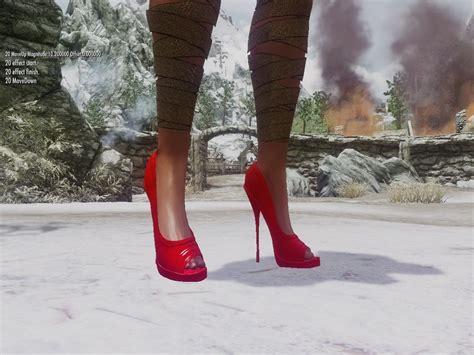 skyrim high heels hdt skyrim newmiller high heels and for unp and unpb heels