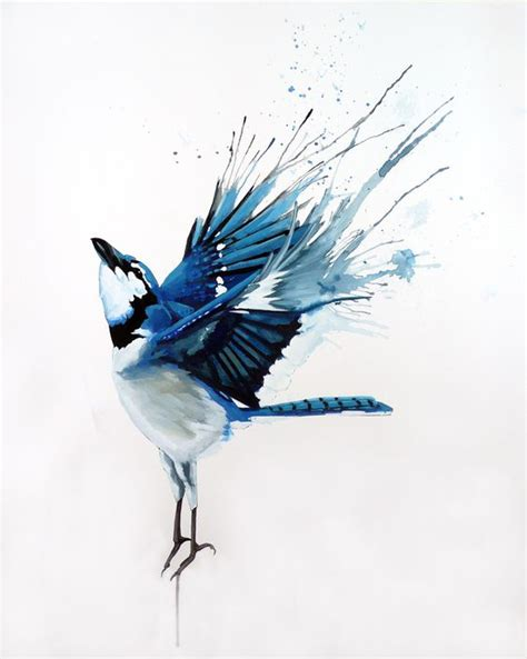 painted bird tattoo free blue bird with watercolor wings design