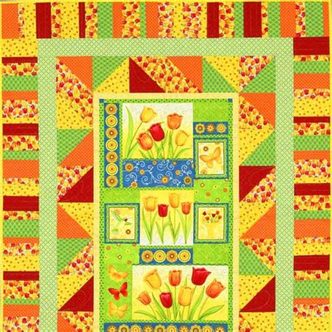 patterns for a for all time tulip time panel quilt allpeoplequilt