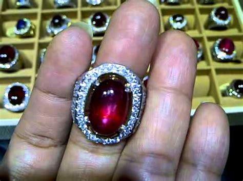 Cincin Batu Permata Rubby Ring Perak cincin batu ruby corundum code 2536