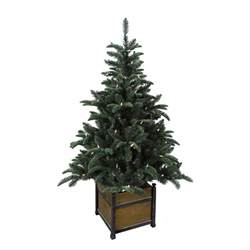porch trees home accents 4 ft pre lit noble artificial