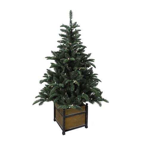 porch christmas trees home accents holiday 4 ft pre lit noble artificial