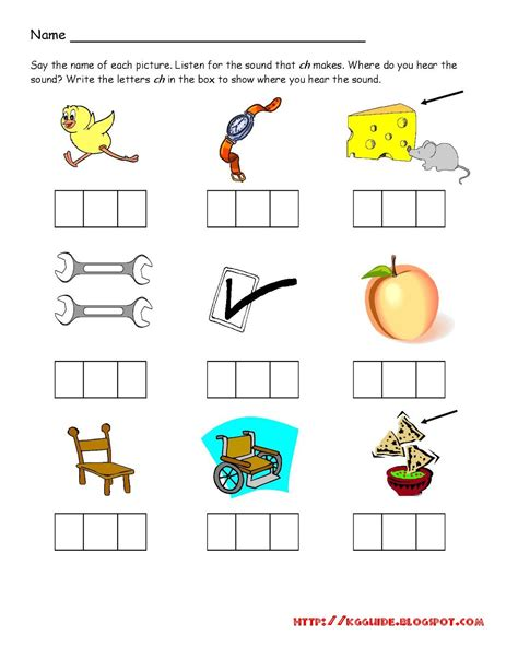 Ch Worksheets by Quot Ch Quot Words Worksheet For Kindergarten Students