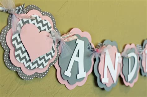 Pink And Grey Chevron Baby Shower Decorations by Light Baby Pink Gray Chevron Stripe Polka Dot Name Or