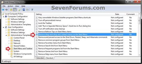 start menu layout gpo not working start menu context menus and dragging and dropping
