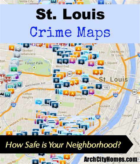 st louis neighborhood map st louis crime maps arch city homes