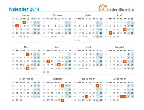 Kalender 2014 Zum Ausdrucken Feiertage 2014 Deutschland