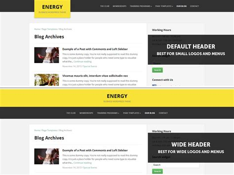 design header wordpress energy wpzoom