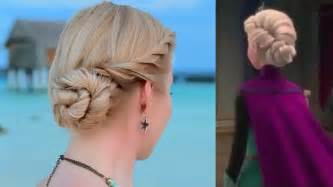 from frozen hairstyle hair tutorial elsa frozen