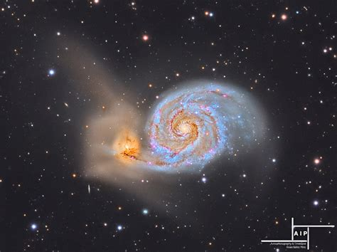whirlpool galaxy m51 the whirlpool galaxy in lrgb sky telescope