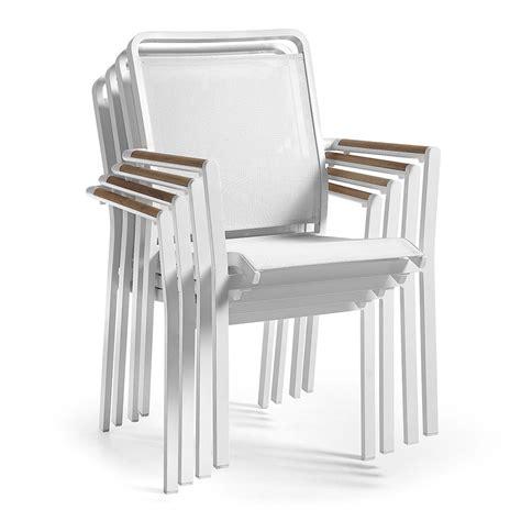 sedia alluminio esterno sedia da giardino in alluminio e textilene luke
