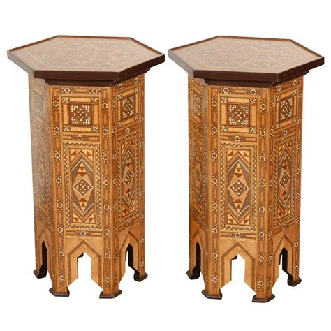 middle eastern side tables mosiak levantine hexagonal side tables middle eastern