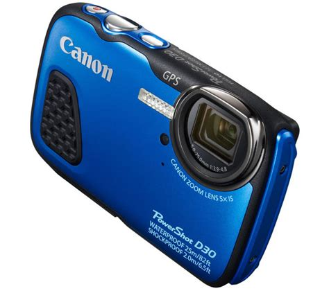 canon rugged 9337b012 canon powershot d30 tough compact blue currys pc world business