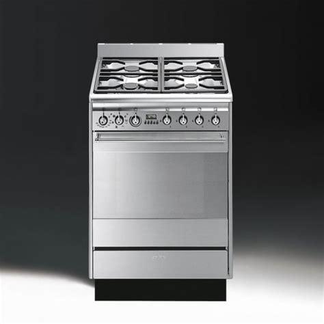Oven Gas Ukuran 60 Cm smeg concert suk61mx8 dual fuel 60cm single oven cooker stainless steel with chrome trim