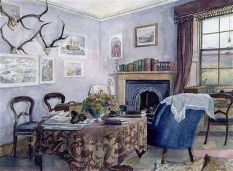 scottish country house interiors drawing room interior in a country house scottish school as art print or hand