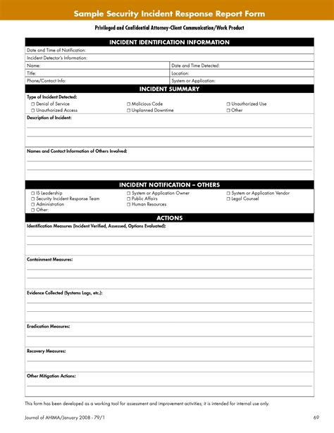 Incident Report Exle Security Guard Best Photos Of Sle Security Report Template Security Incident Report Form Template