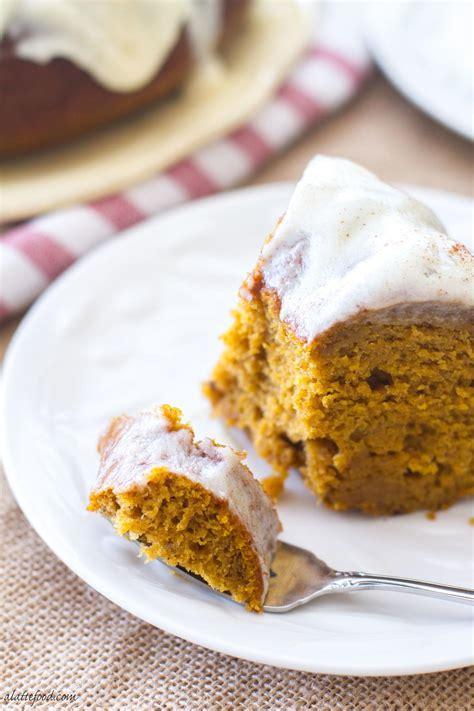 cream cheese glazed pumpkin bundt cake recipelion com