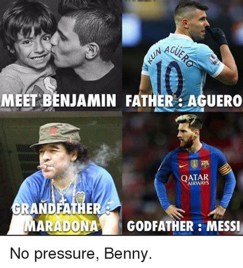 benjamin aguero maradona 25 best memes about no pressure no pressure memes