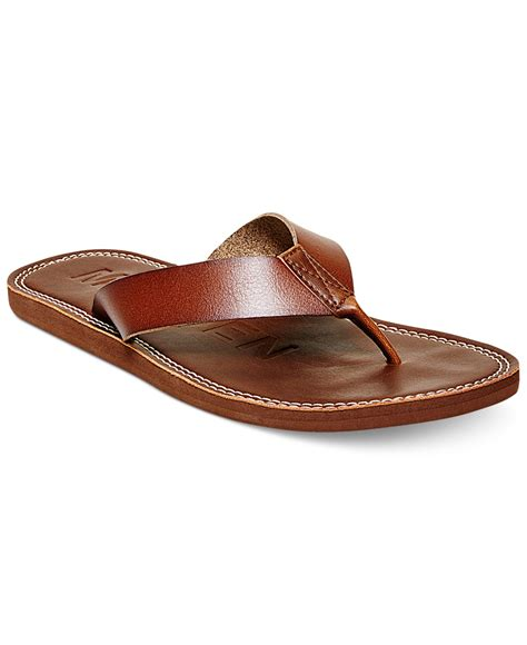 madden slippers lyst steve madden madden concour flip flops in brown for