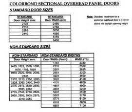 Typical Garage Door Size Coast Garage Doors And Roller Doors East Coast Garage Doors