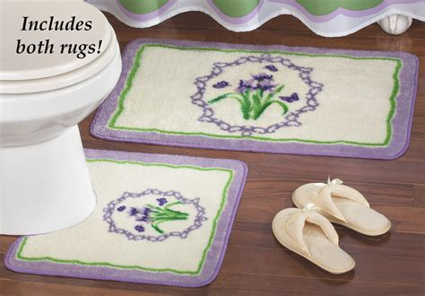 Lavender Bath Rug by Collections Etc Lavender Wisteria Iris Bath Rugs Set Of 2