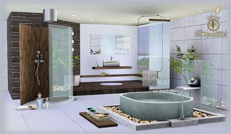 sims 3 bathroom ideas my sims 3 blog natural camouflage bathroom set by