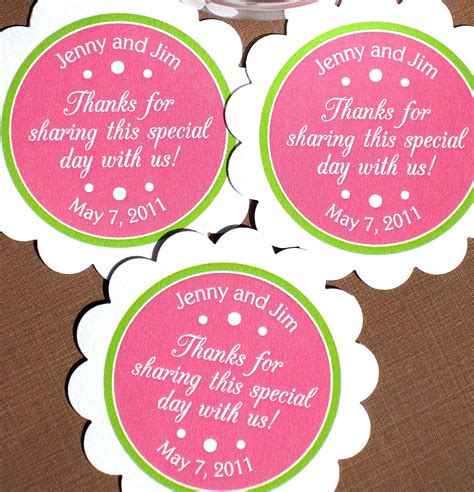 printable labels wedding favors items similar to printable wedding favor labels for tags