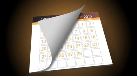 calendar flip template preview on vimeo