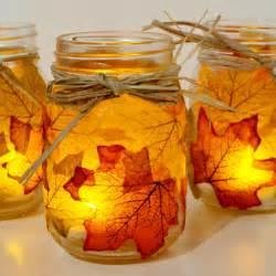 Autumn leaf mason jar candle holders fun family crafts